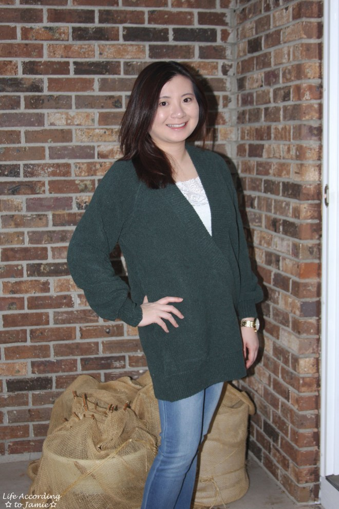 Green Wrap Front Tunic 7