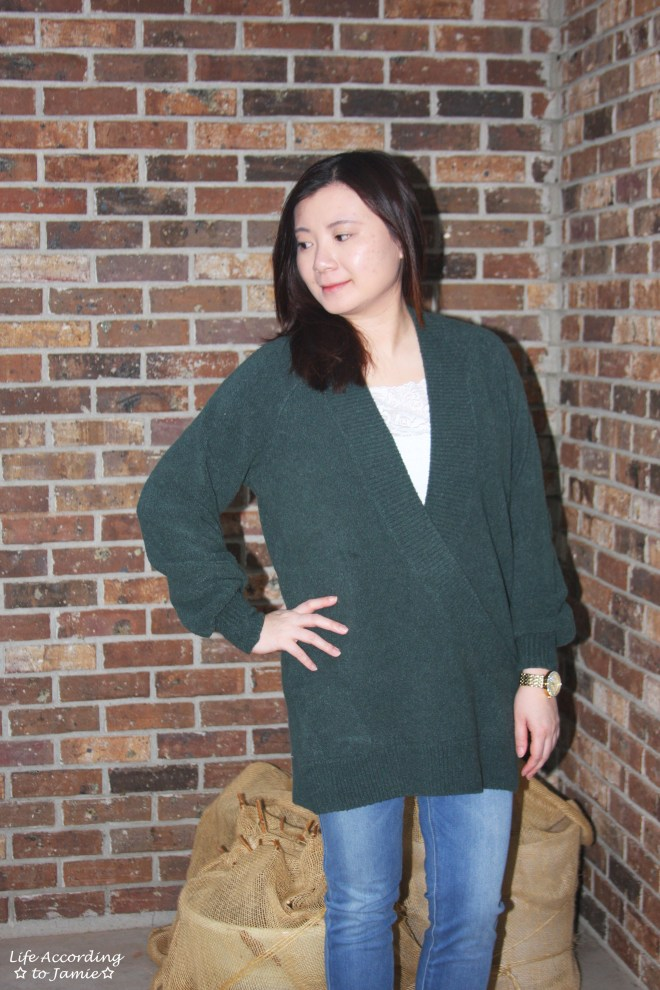 Green Wrap Front Tunic 8