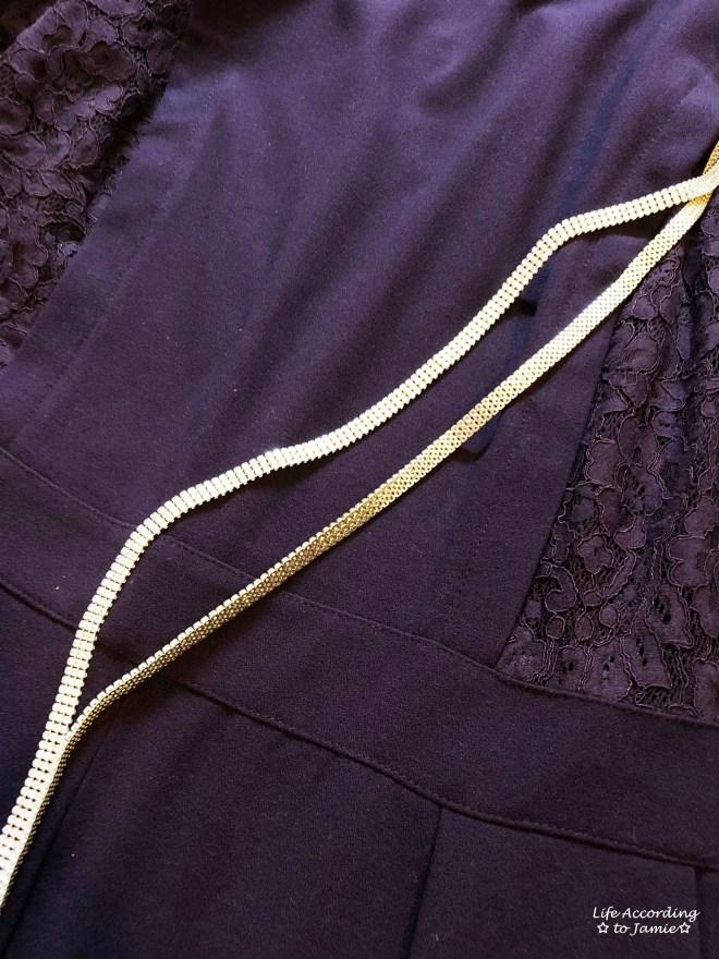 Lace Panel Jumpsuit + Arlo Lariat 3
