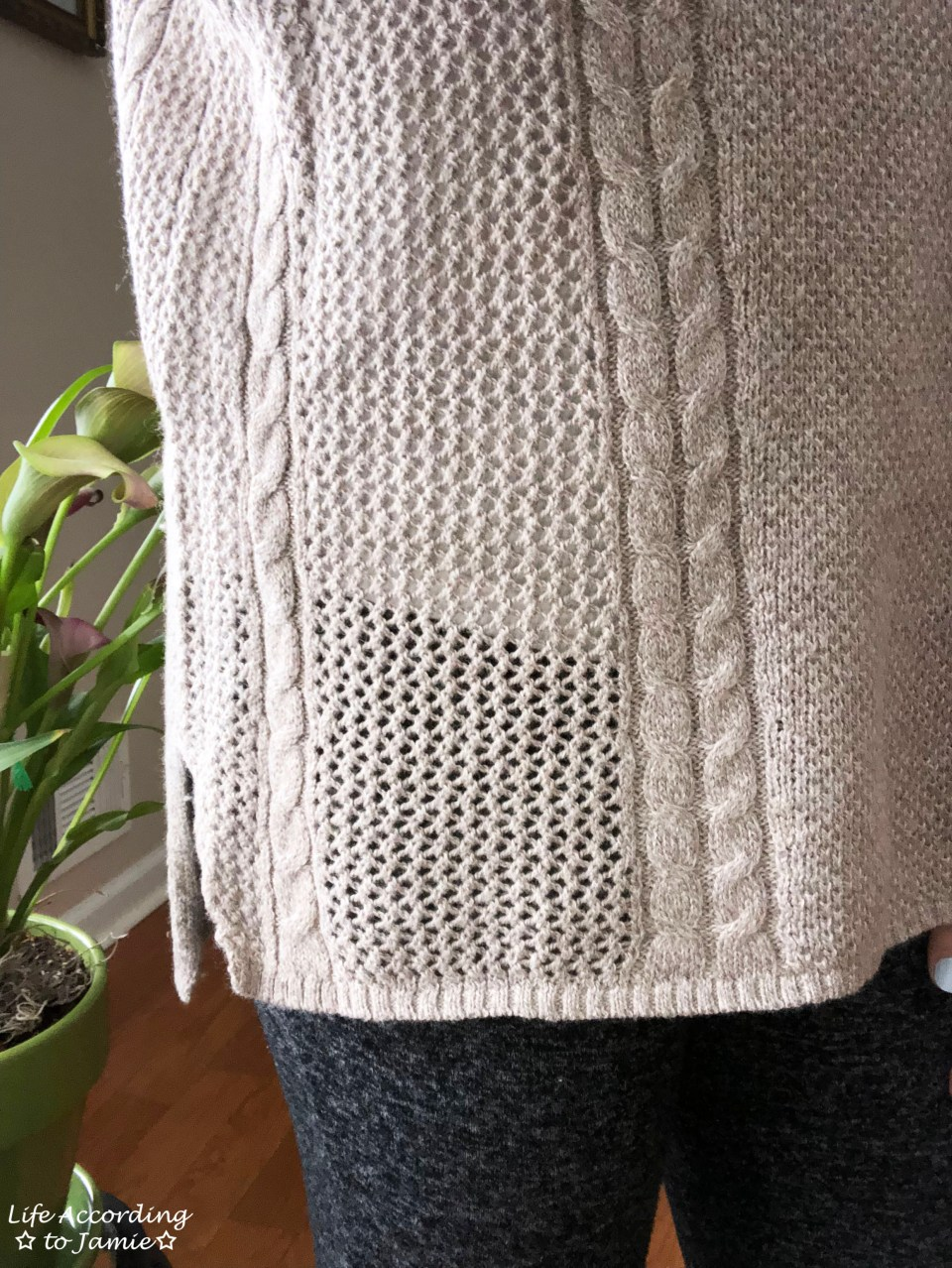 Mixed Stitch Cable Sweater 1