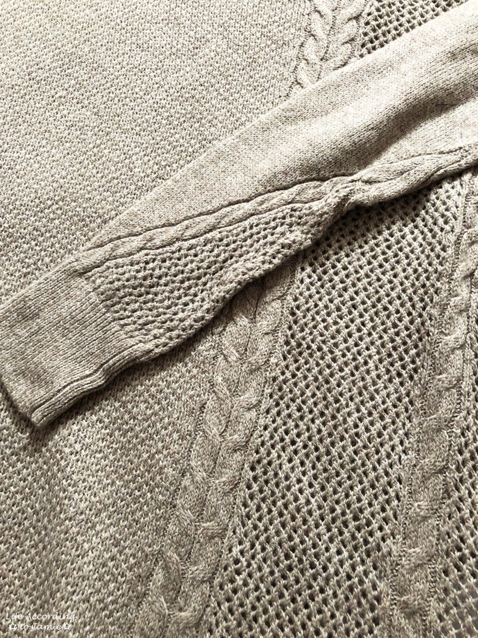 Mixed Stitch Cable Sweater 3