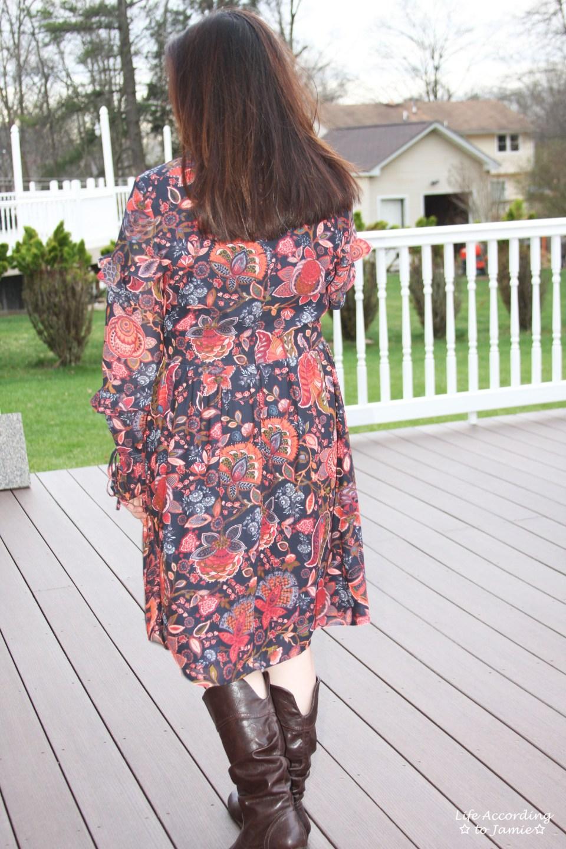 Navy Hydrangea Bouquet Dress 5