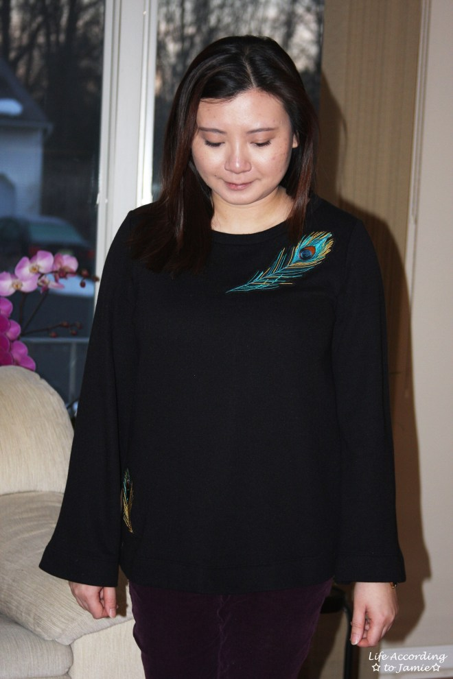 Peacock Feather Bell Sleeve 5