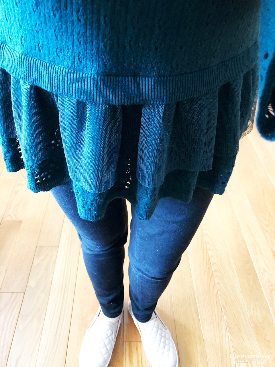 Pointelle Babydoll Sweater 1