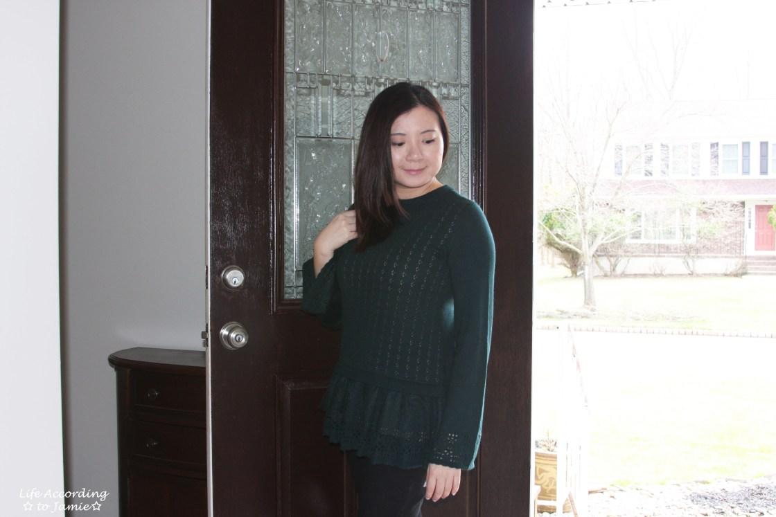 Pointelle Babydoll Sweater