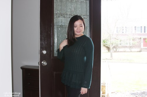 Pointelle Babydoll Sweater
