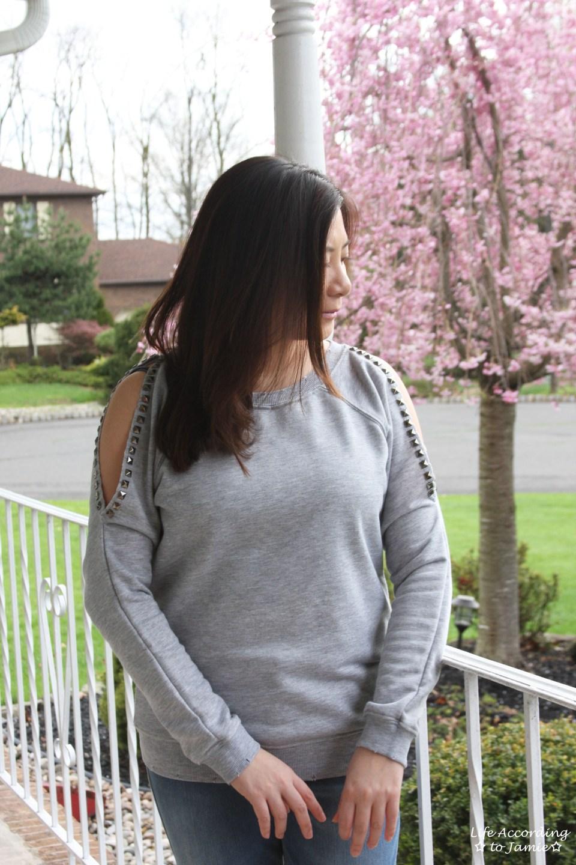 Studded Cold Shoulder 4