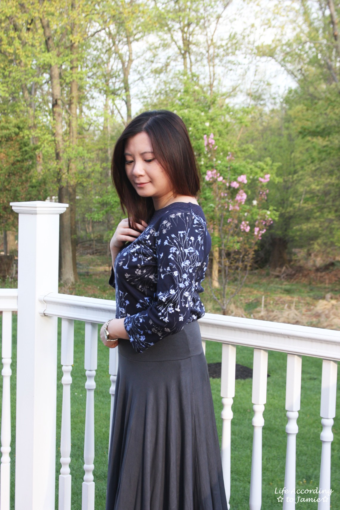 Crochet Topped Floral Top