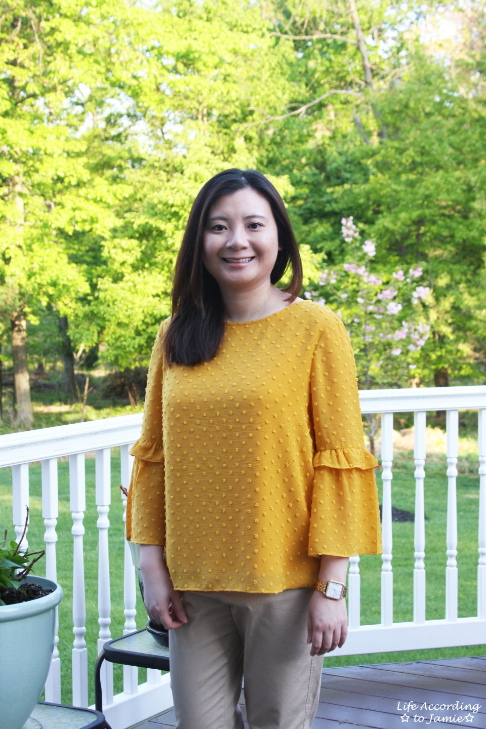 French Knot Mustard Blouse 12
