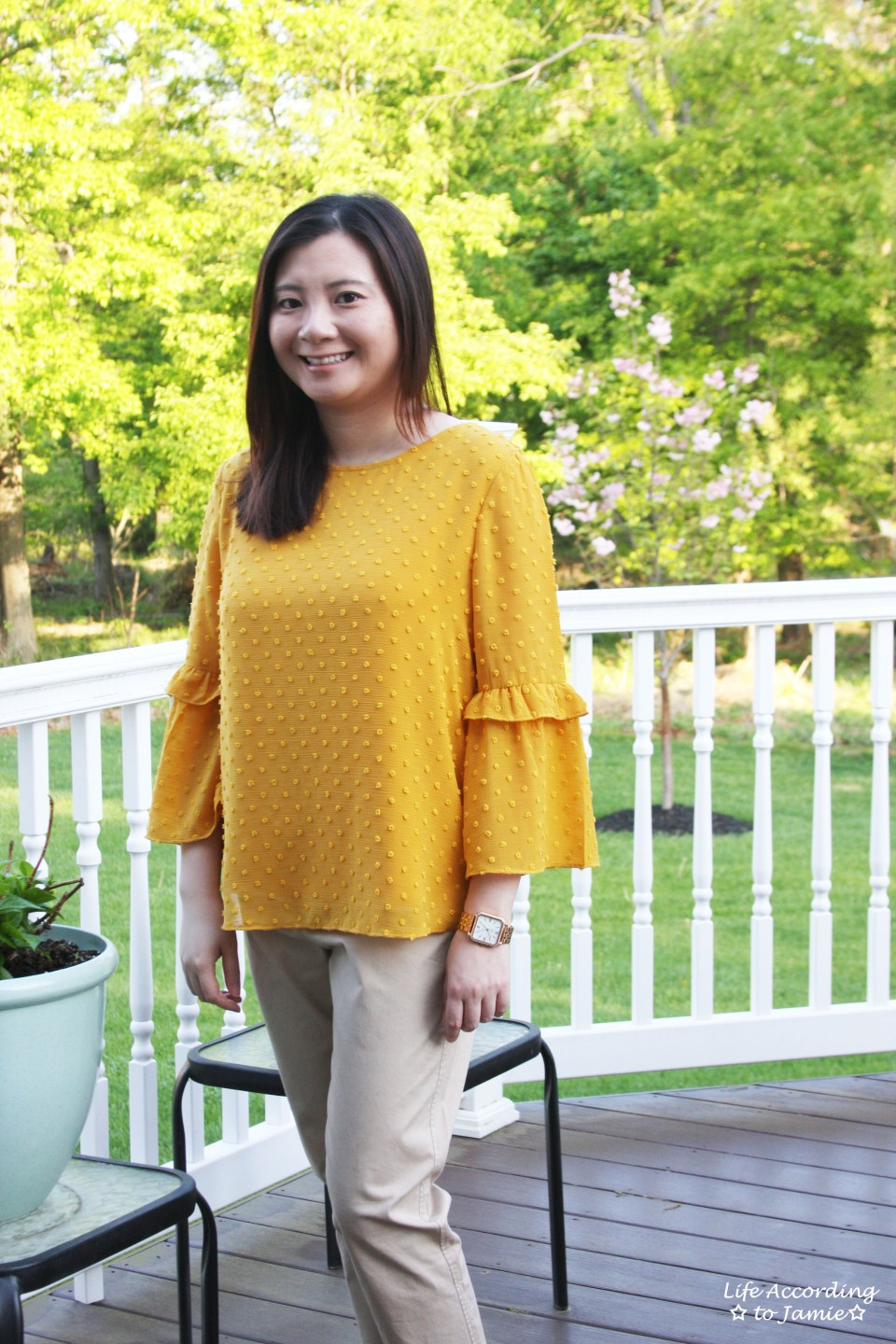 French Knot Mustard Blouse 9
