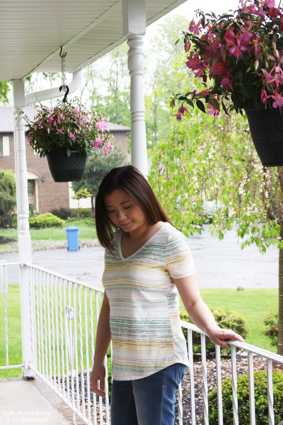 Green & Yellow Striped Tee 8