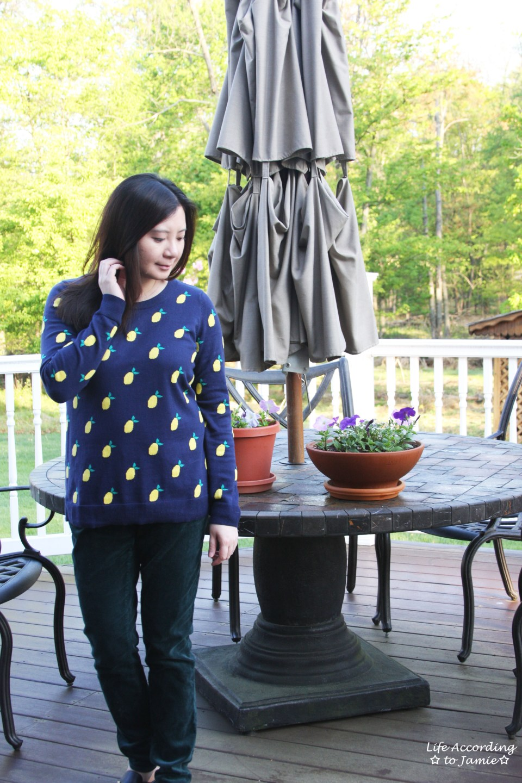 Lemon Print Sweater 7