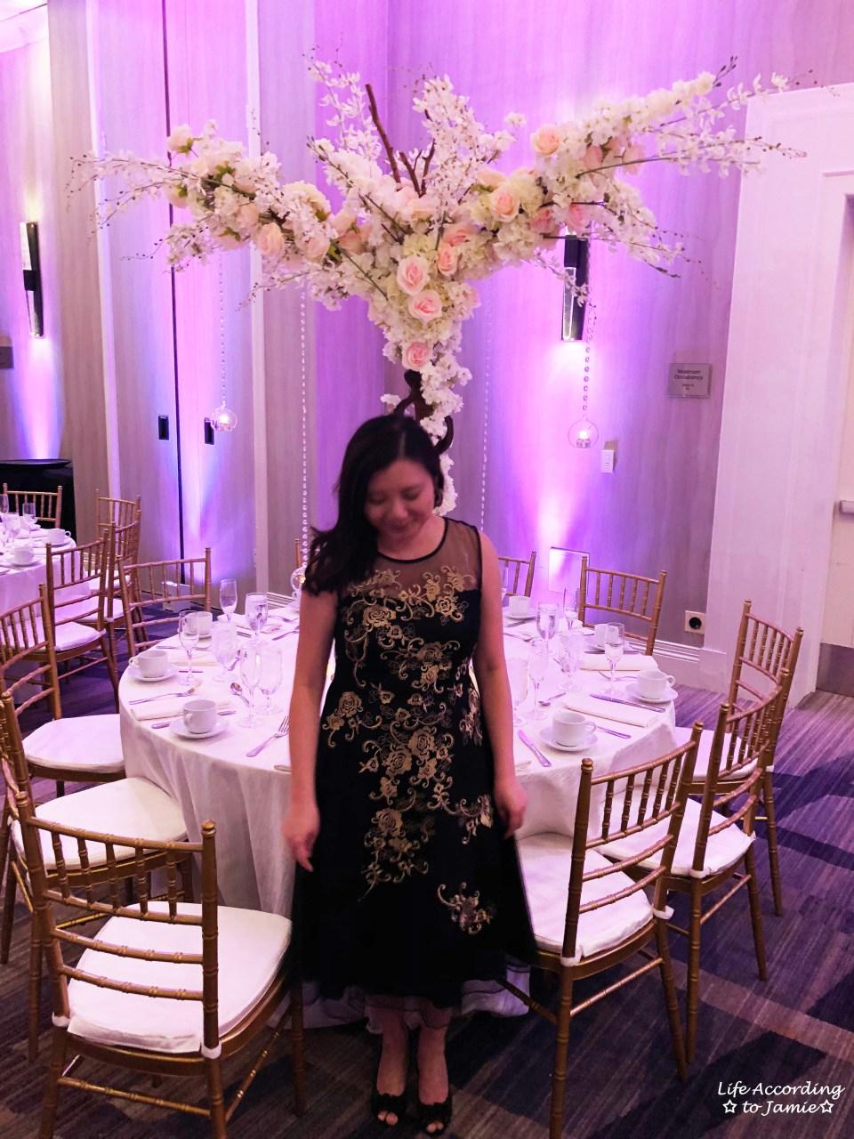 Metallic Flower Illusion Dress 2