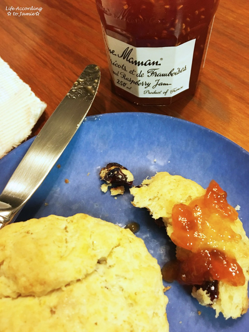 Orange Cranberry Scone + Jam 1