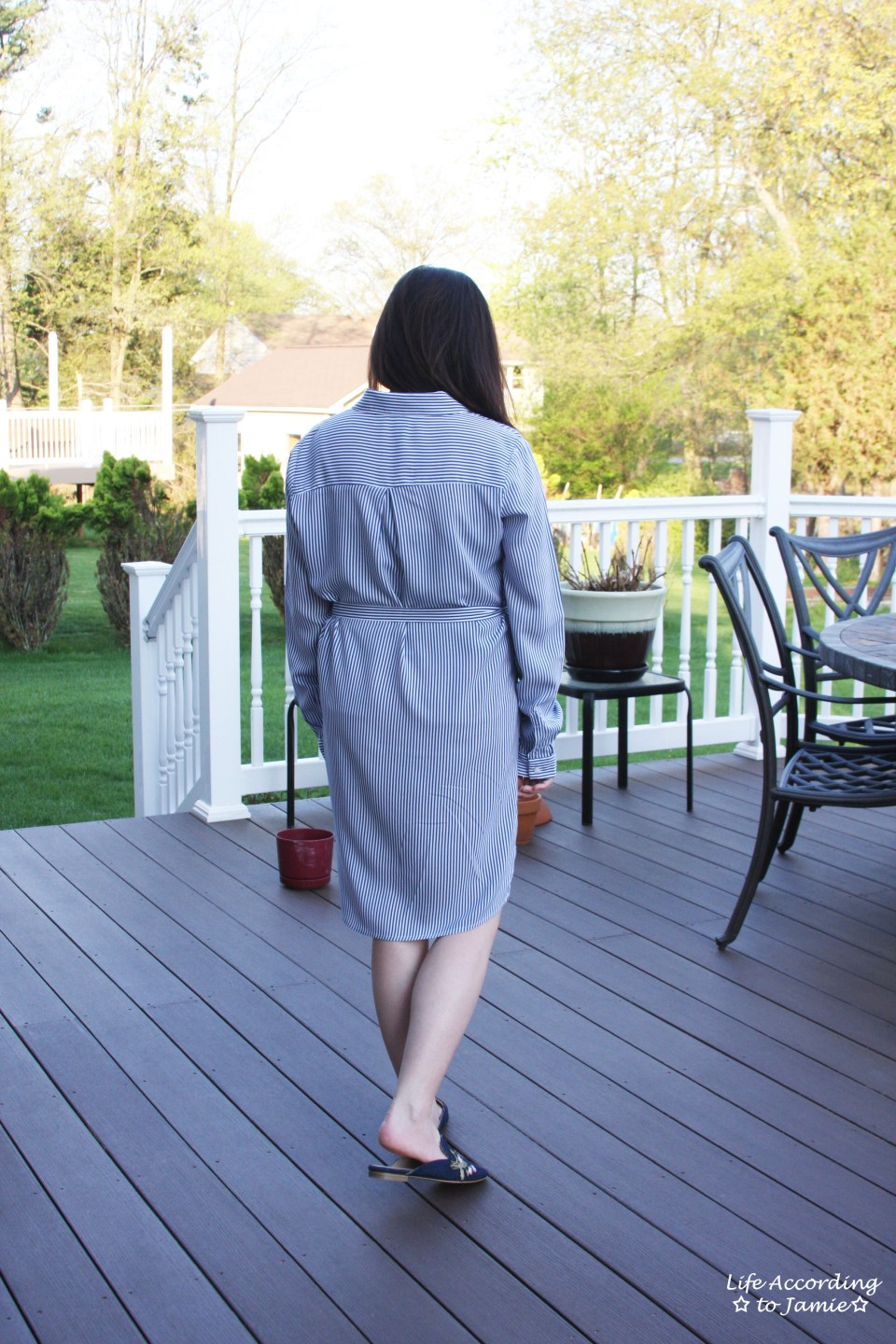 Pinstripe Shirt Dress 8