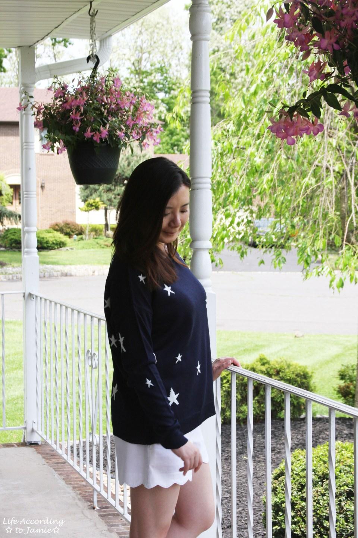 Star Sweater + White Scalloped Shorts 8