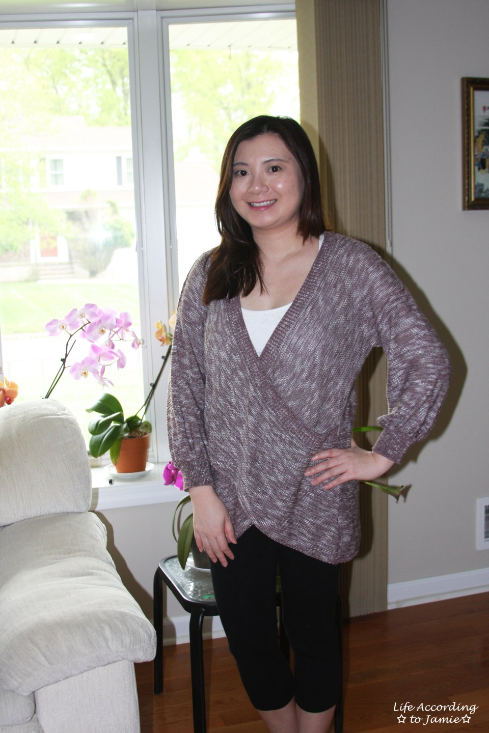 Wrap Front Sweater 4