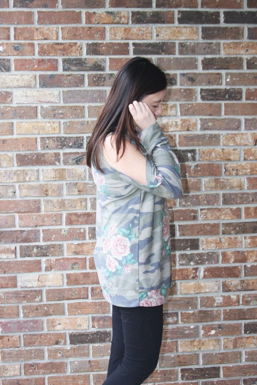 Floral Camo Cold Shoulder 3