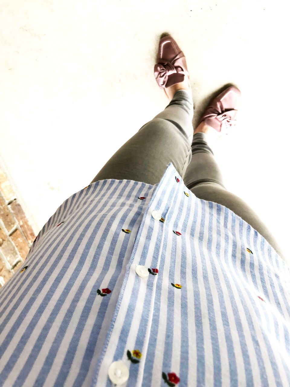 Floral Pinstripe Button Down 10