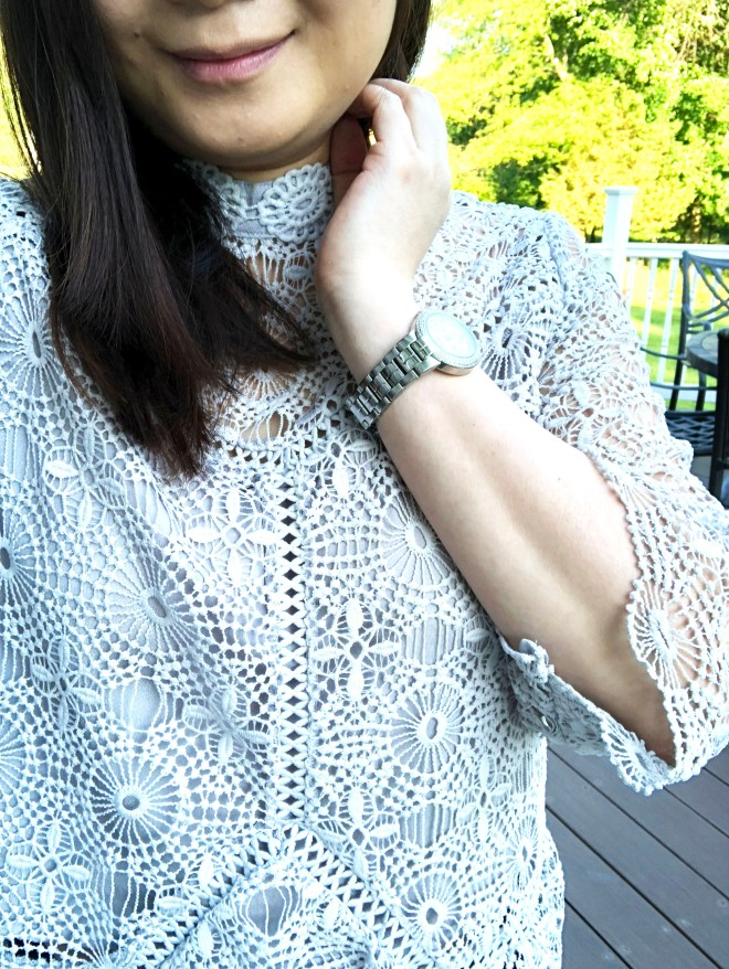 Grey Crochet Top 12