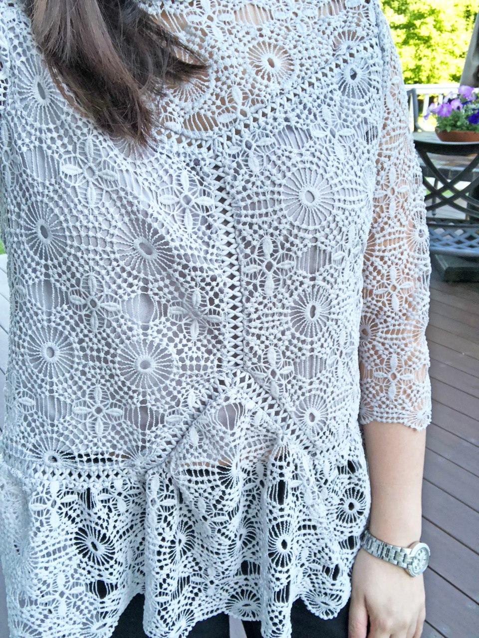 Grey Crochet Top 13