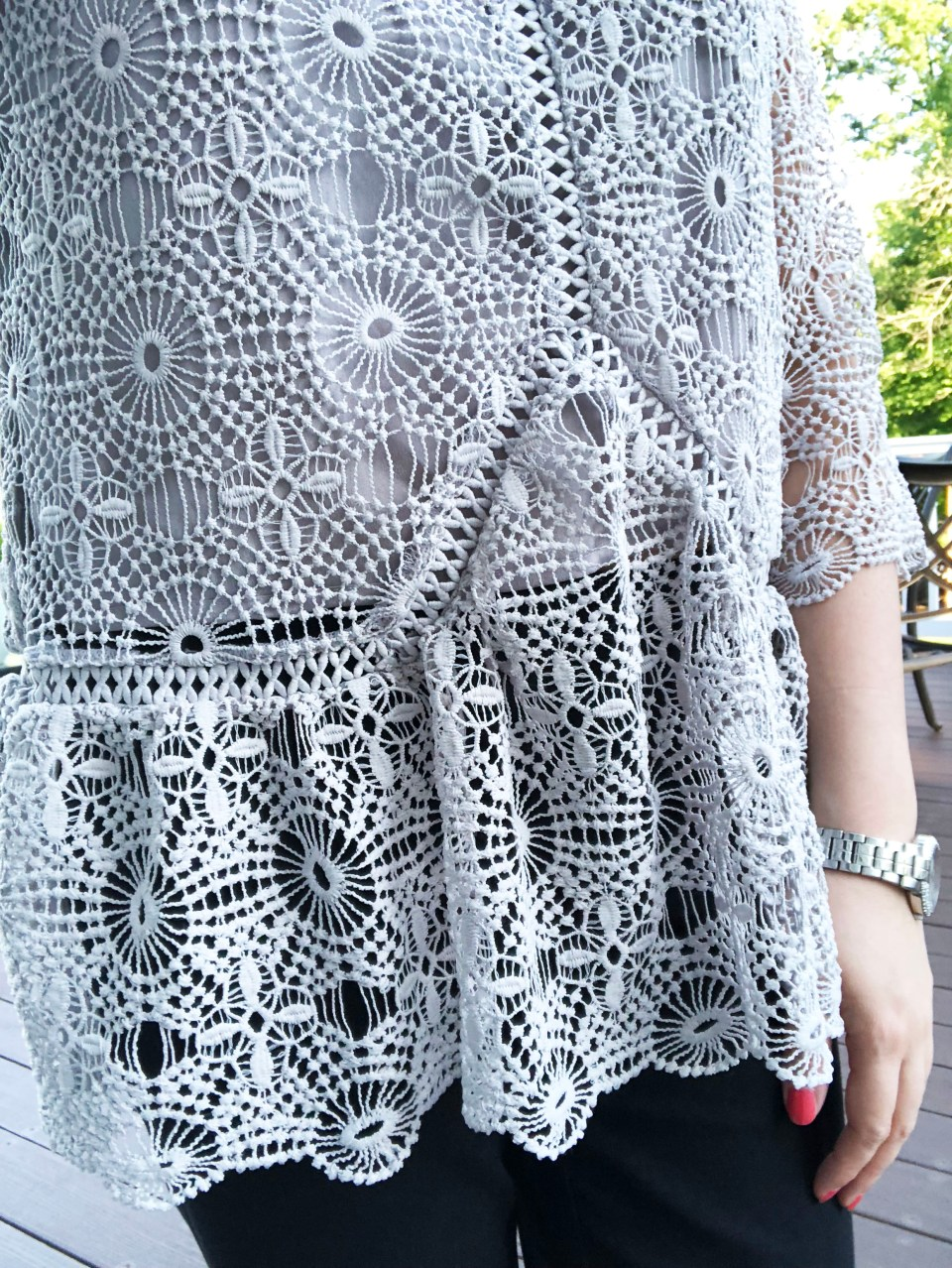 Grey Crochet Top 15