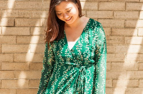 Bells of Ireland Wrap Dress