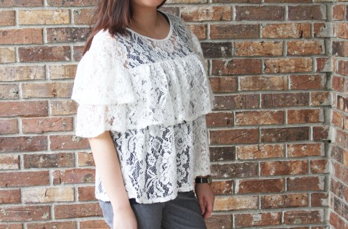 Lace Tiered Ruffles