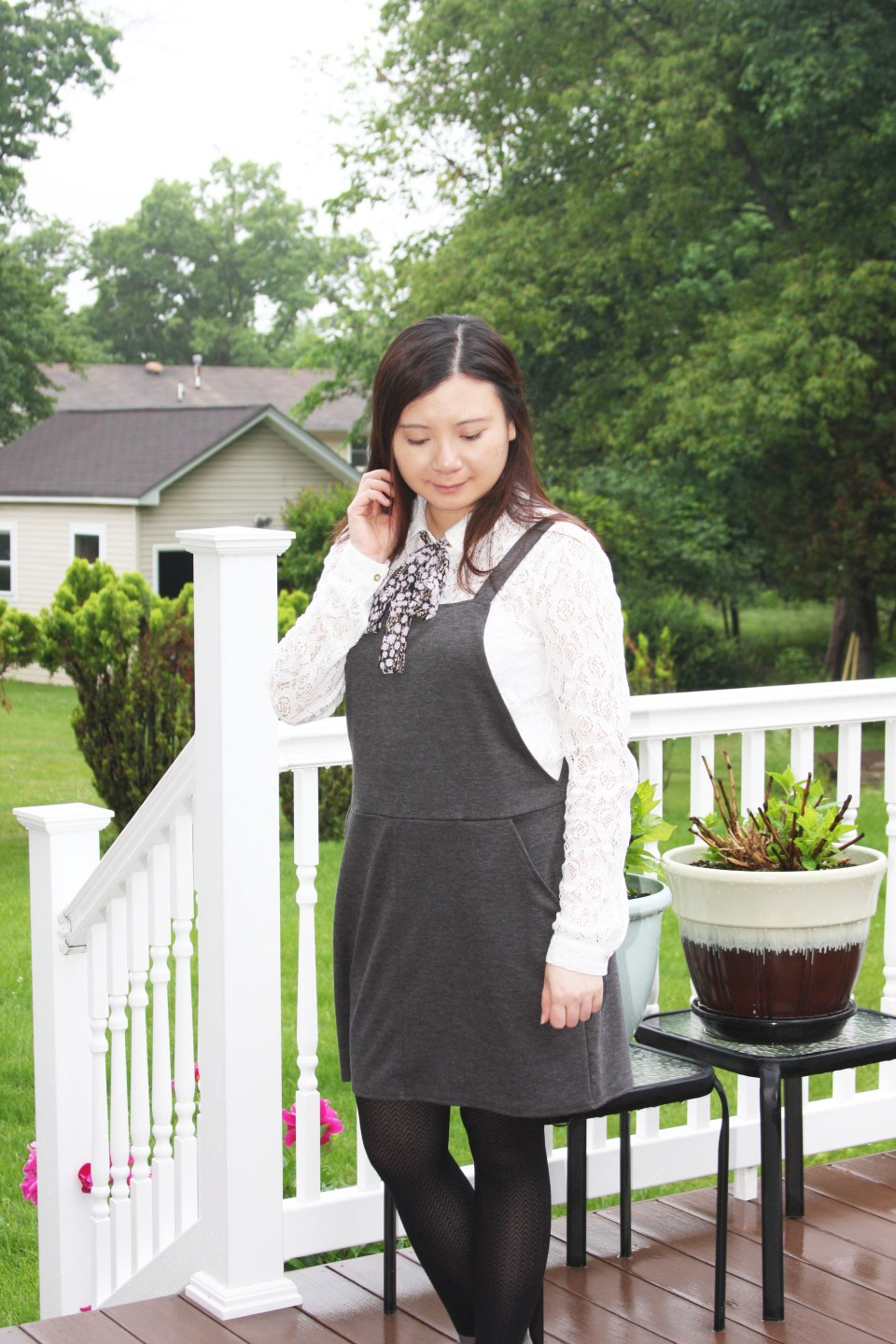 Lace Top + Pinafore 1