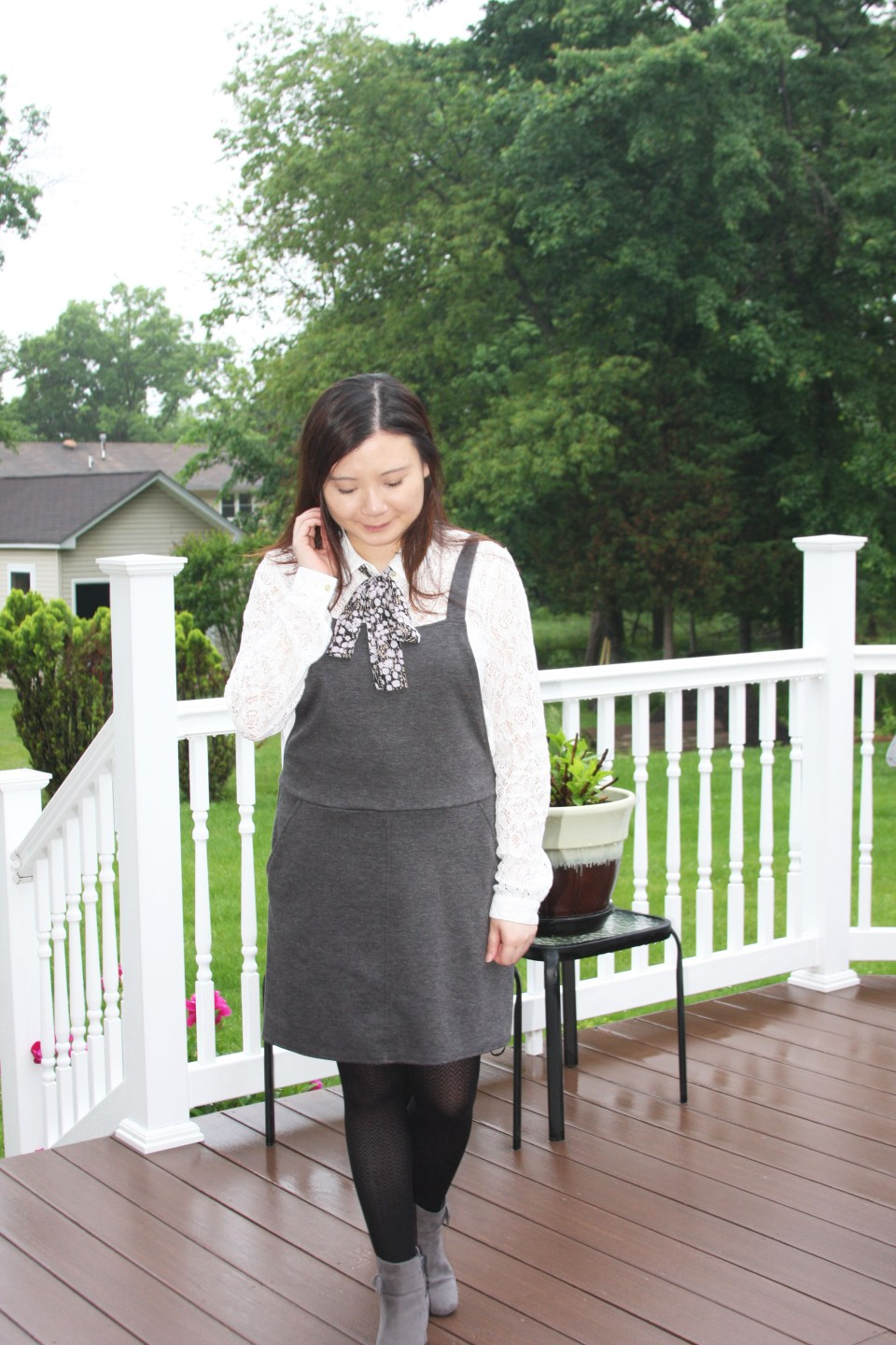 Lace Top + Pinafore 7