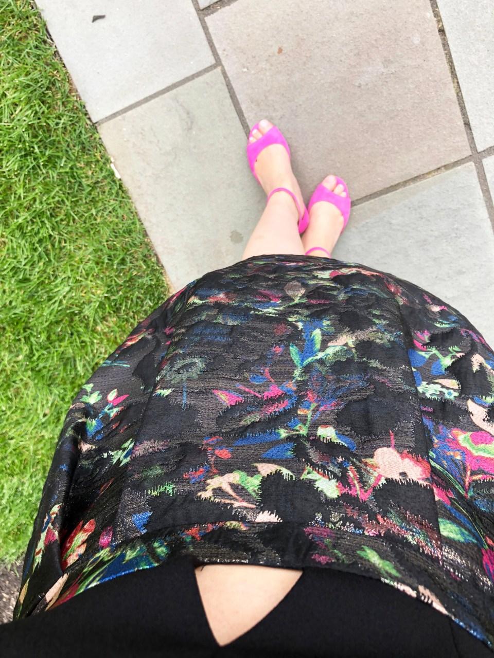 Multicolor Skirt Keyhole Dress 5