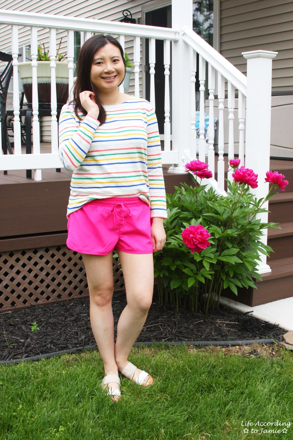 Multicolored Striped Top 13