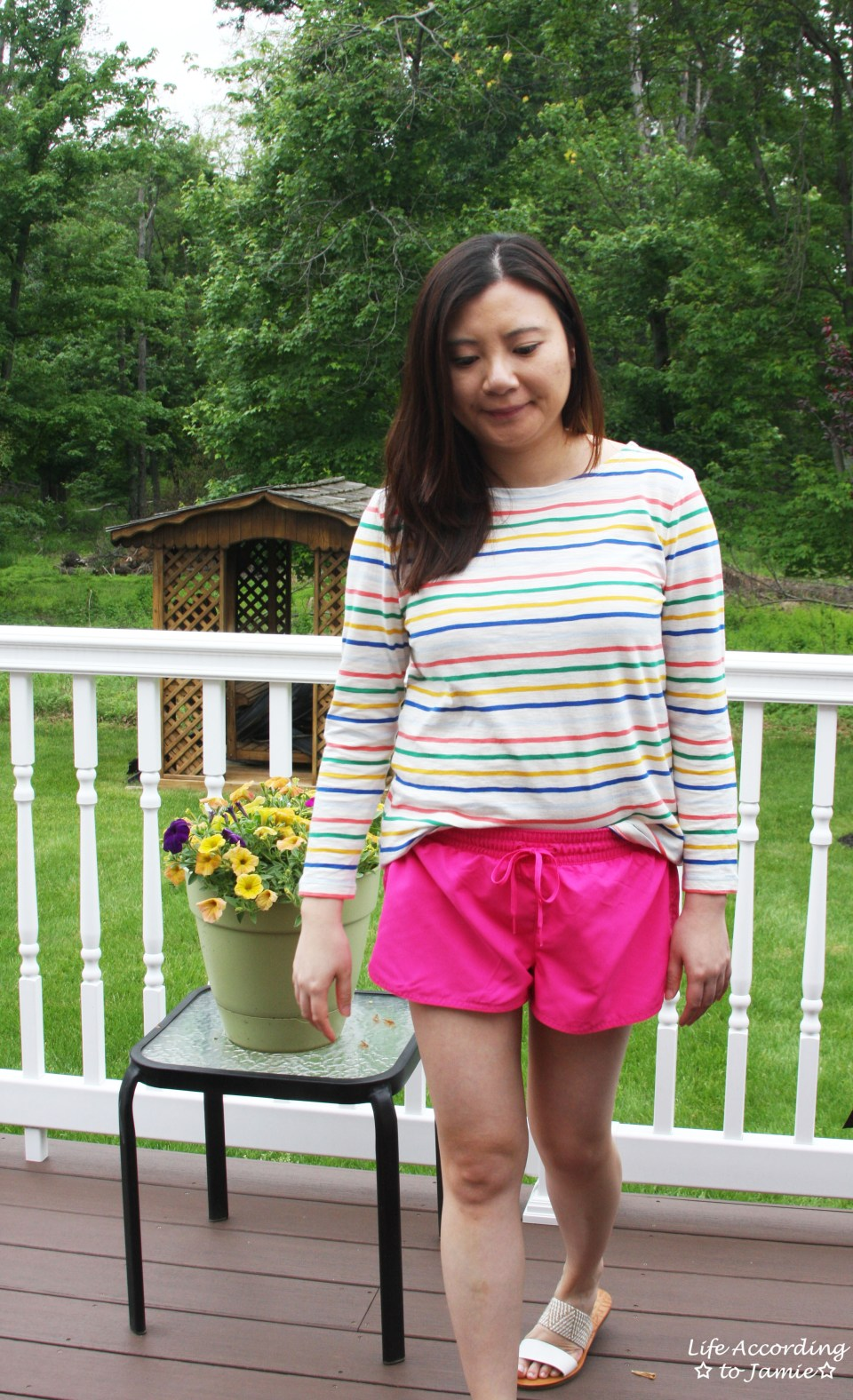 Multicolored Striped Top 3