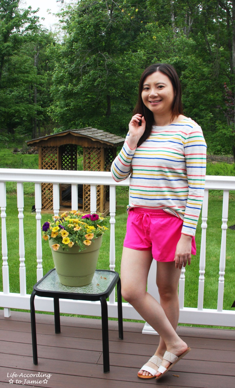 Multicolored Striped Top 4
