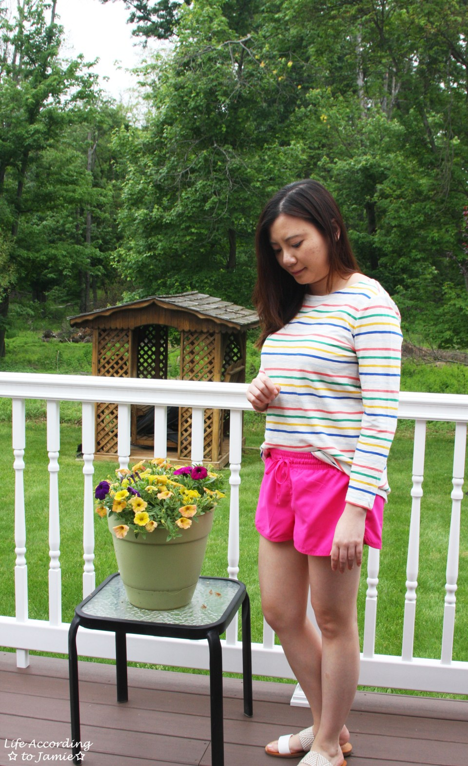 Multicolored Striped Top 5