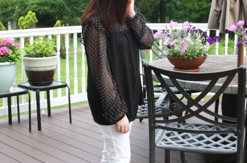 Sheer Ruffle Dot