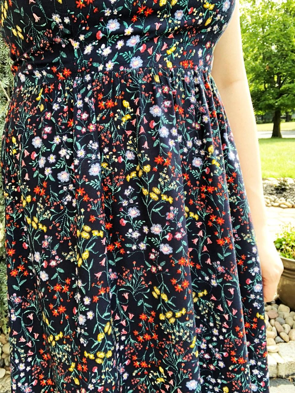 Dark Floral Midi Dress 11