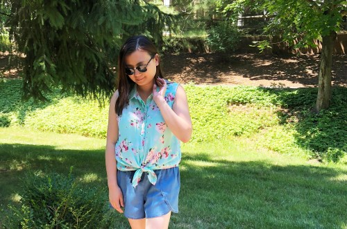 Floral Scalloped Trimmed Blouse + Tulip Shorts