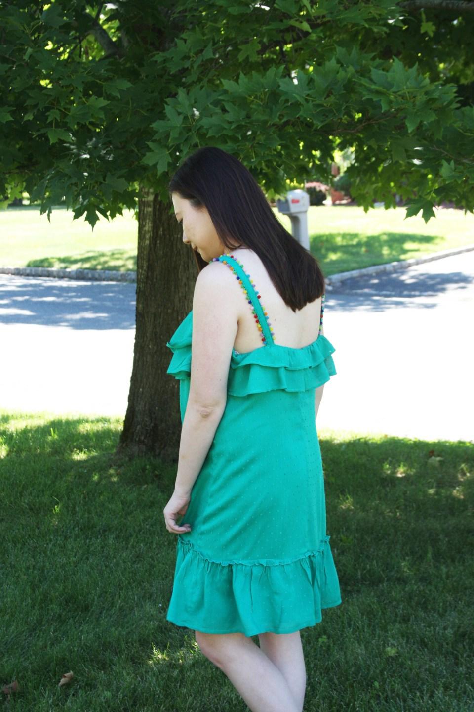 Mini Pompom Trim Dress 2