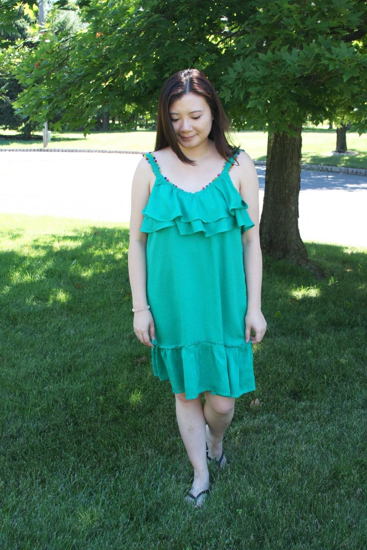 Mini Pompom Trim Dress 8