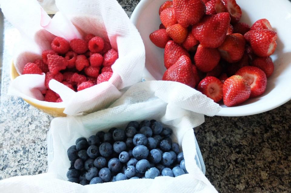 Mixed fresh berries