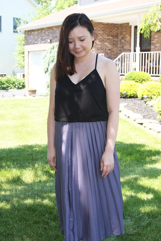 Pleated Duet Dress 11