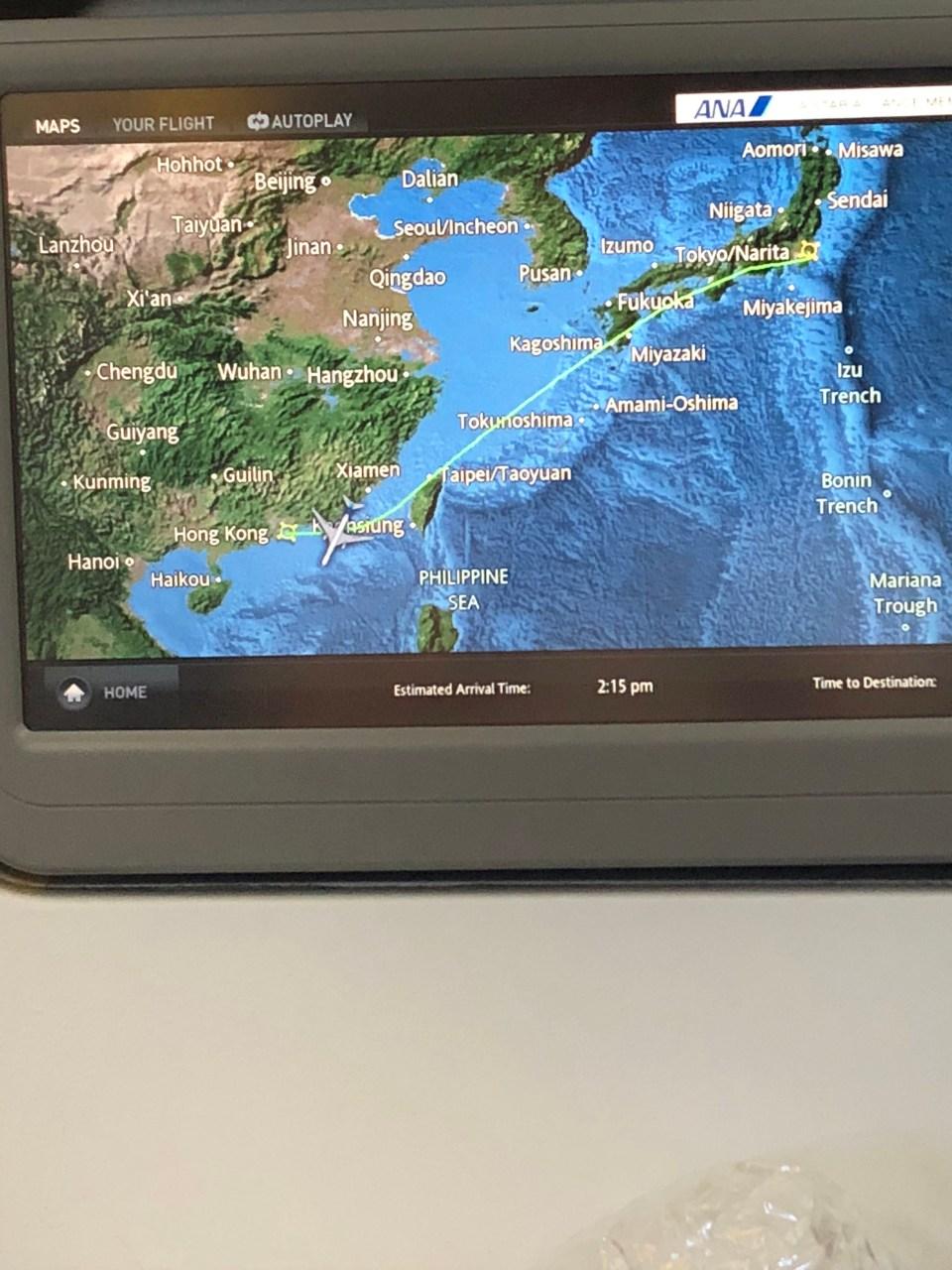 ANA - Flight Map 1