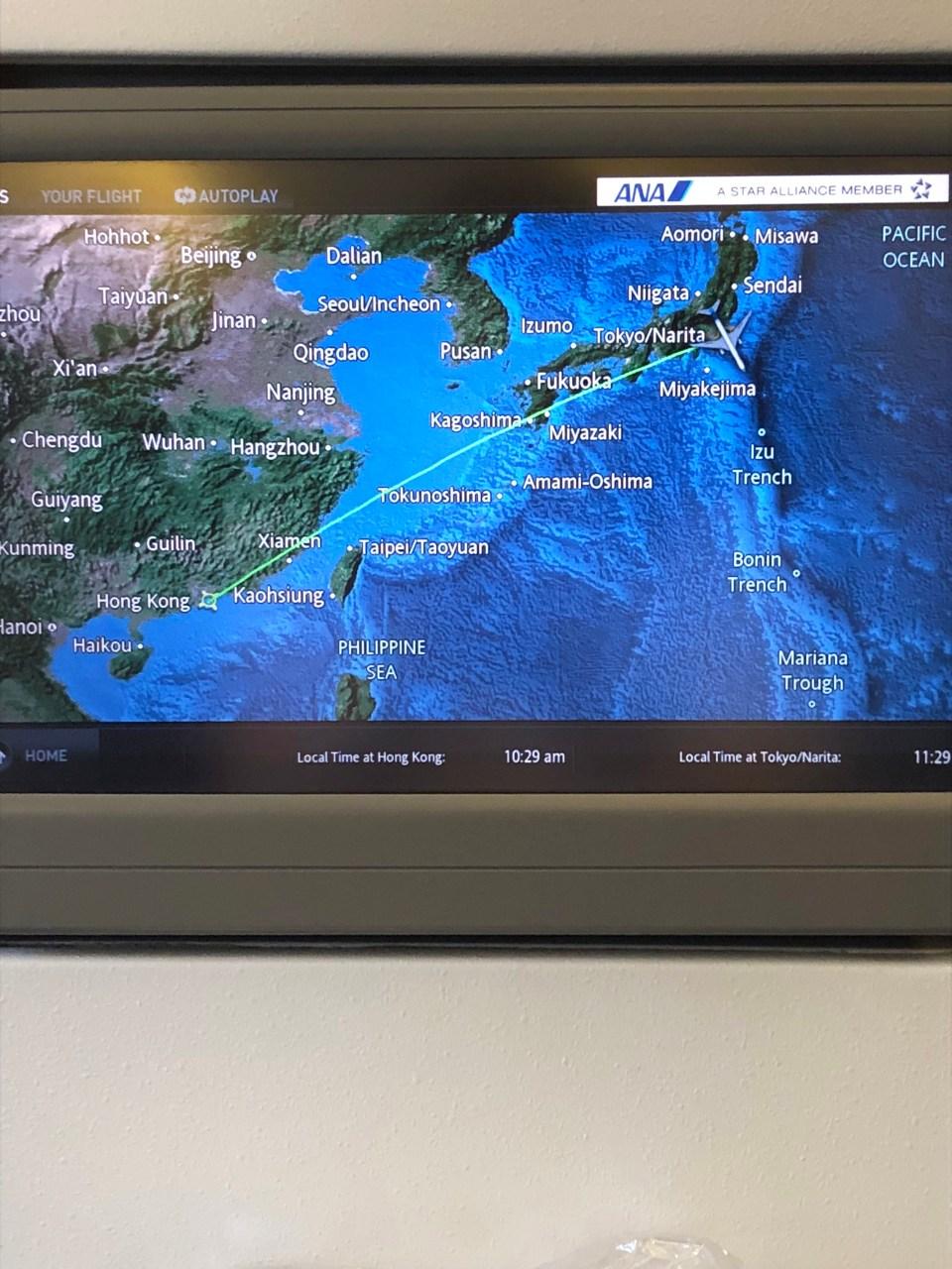 ANA Flight Map
