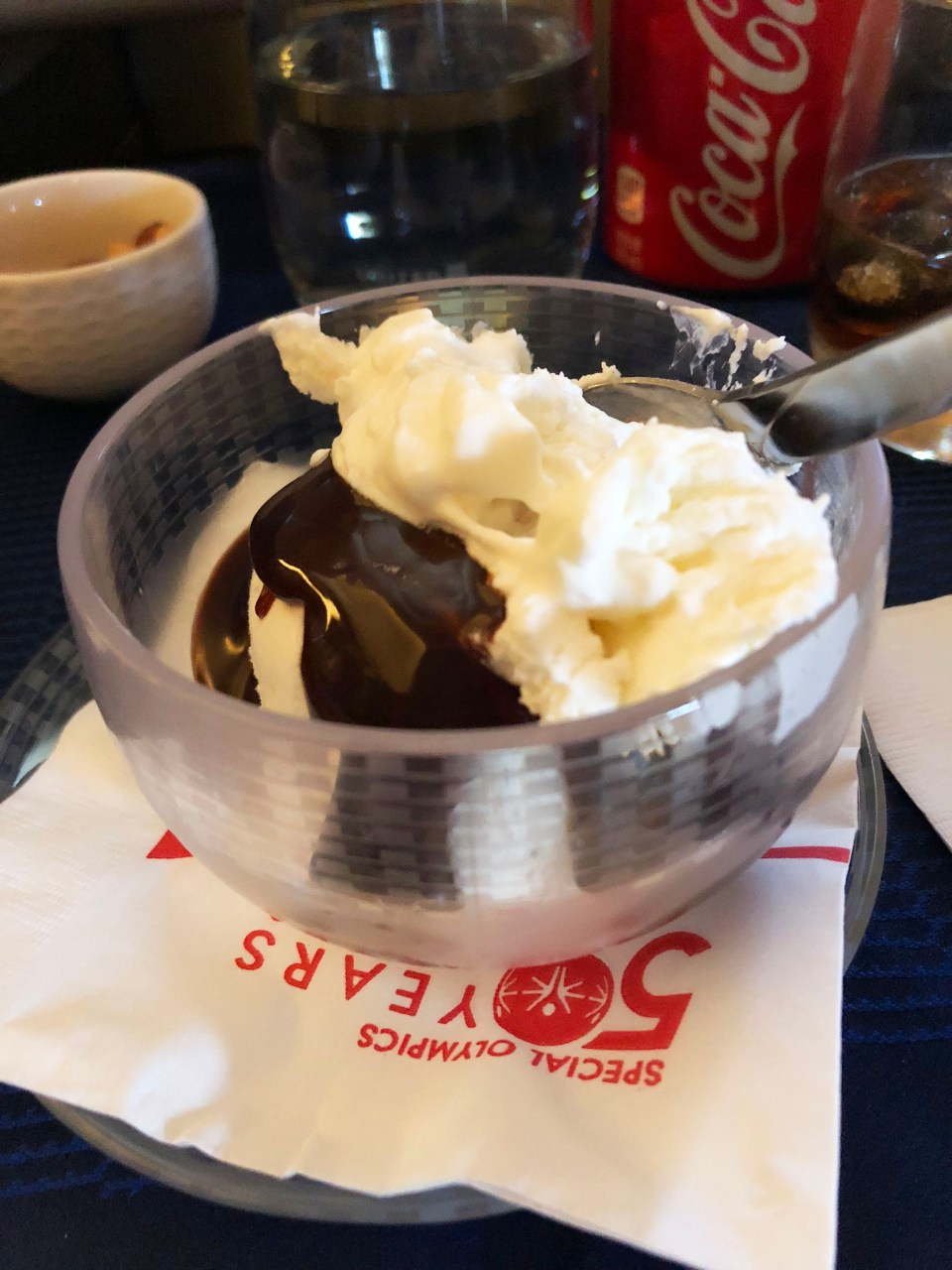 Airplane icecream sundae
