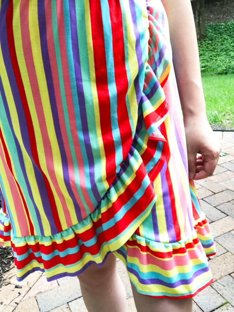 Bright Stripe Wrap Dress 13