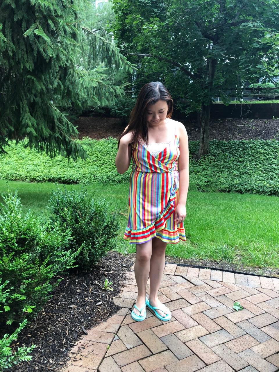 Bright Stripe Wrap Dress 8