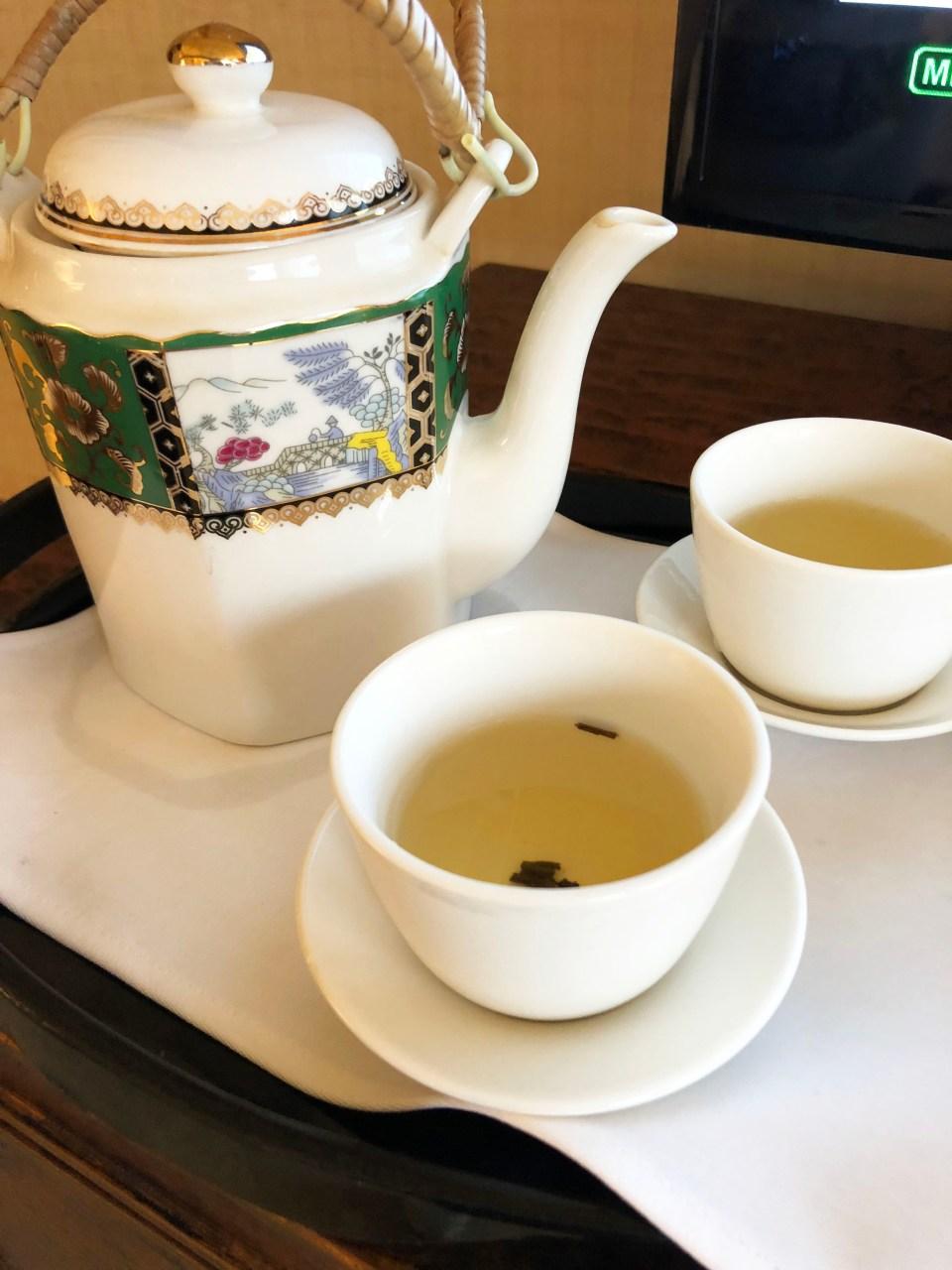 Conrad Hong Kong - welcome tea