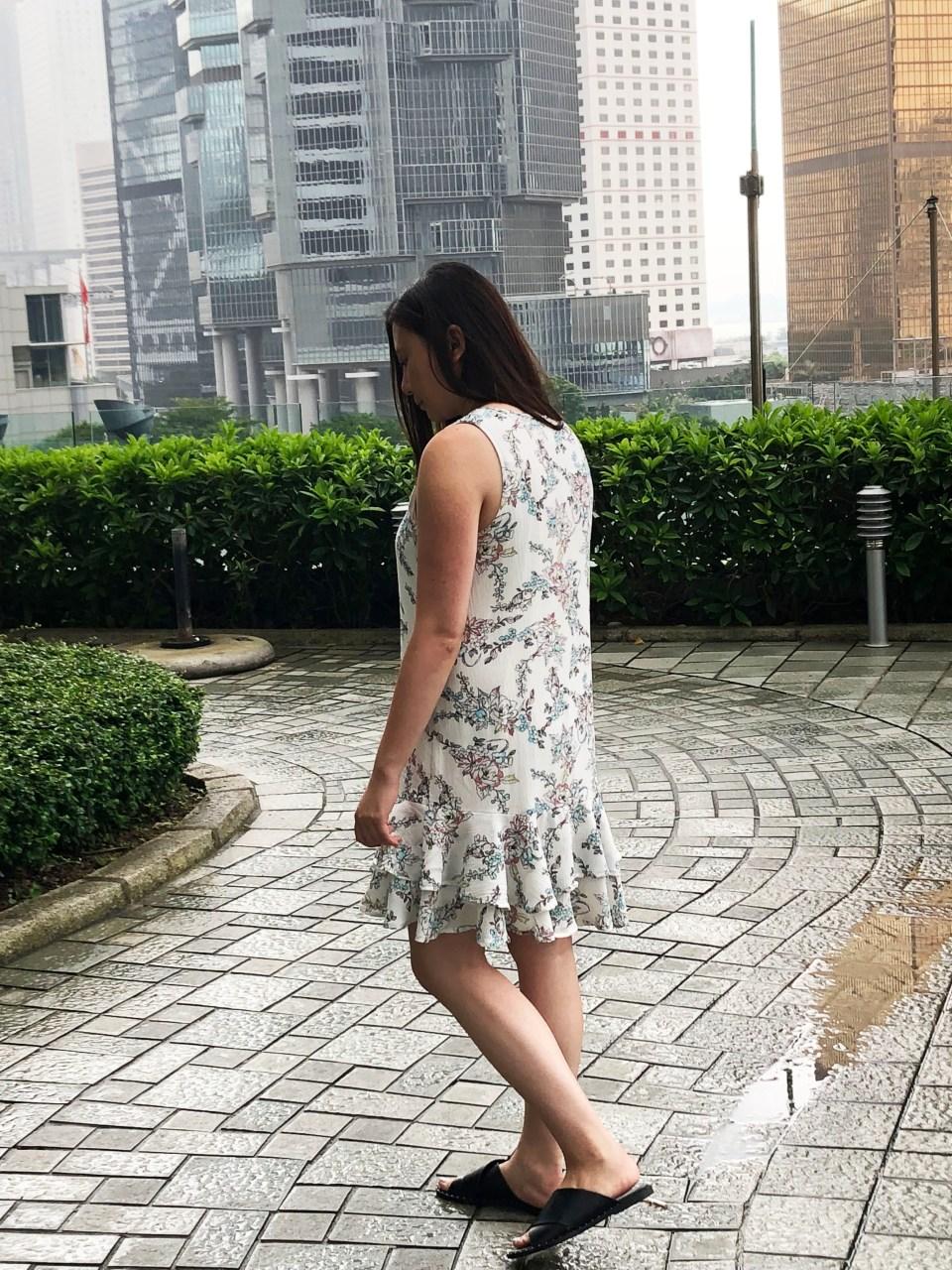 Floral Flounce Dress
