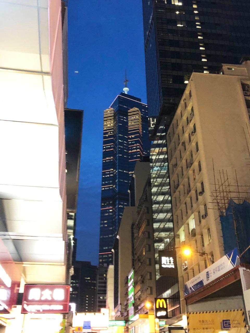 Hong Kong - Central at night